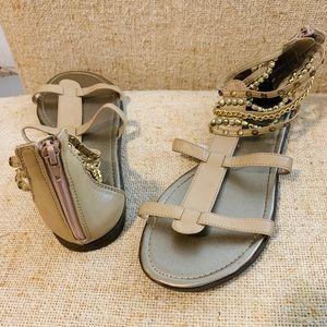 Beaded Gladiator Sandals Size 8.5 NWOT
